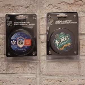 NHL Winter Classic Puck - Set of 2